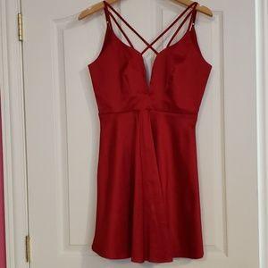 Cross My Heart Dress Red